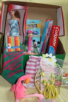 I know many churches participate in operation Christmas child shoes boxes, but I think this would be a great school project