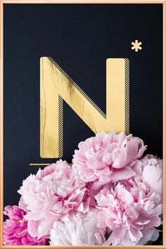 Flower Alphabet N by neon* fotografie as Poster in Aluminium Frame Alphabet Wallpaper, Name Wallpaper, Flower Alphabet, Alphabet Print, Poster Shop, Copper Frame, Typography Poster, Lettering Design, The Incredibles