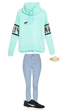 """"""""""" by lilymidgen ❤ liked on Polyvore featuring Victoria's Secret, Topshop, NIKE and Michael Kors"""