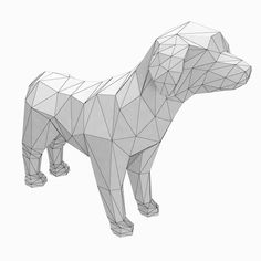 dog low poly style