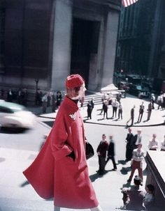 by Genevieve Naylor: by Genevieve Naylor//// RED! Not a word need be spoken. Vintage Coat, Vintage Jacket, Vintage Style, 1960s Outfits, Vintage Outfits, 1950s Fashion, Vintage Fashion, Vintage Swim, Fashion Catalogue