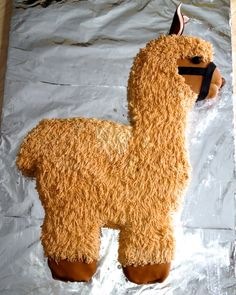 Llama cake for The Boy's birthday. Pretty darn big cake, but lots of fun to make!