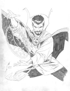 Doctor Strange by Joe Quesada Comic Book Artists, Comic Book Characters, Comic Artist, Comic Character, Comic Books Art, Marvel Comics Art, Marvel Heroes, Character Drawing, Character Design