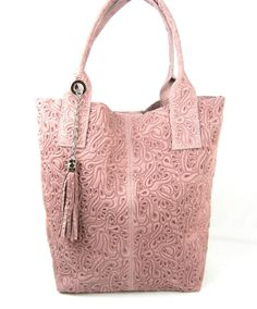06b0697aa0c Engraved Suede Tote - More Colors Lederen Portemonnees, Lederen Handtassen,  Portemonnees En Tassen,