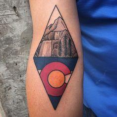 mountain waterfall tattoo