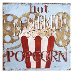 Hot Buttered Popcorn Art - Pier1 US  For the family room (movie wall)