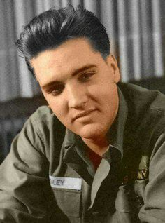 Elvis In the Army - Colorized picture