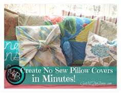 DIY No-Sew Pillow Cover in Just Minutes - SKINNY on LOW CARB