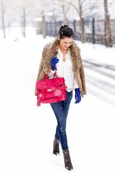 The vibrant colors really pop against the white snow. And did we mention fur?!