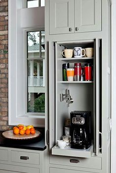 Clever idea for ready to use appliances without taking up counter space