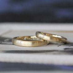 ゴールドでお作りしたナチュラルなフォルムの結婚指輪(オーダーメイド/手作り) [マリッジリング,marriage,ring,bridal,wedding,K18,Gold,ゴールド,ウエディング]