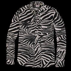 1960 s long sleeve zebra shirt by LEVIS
