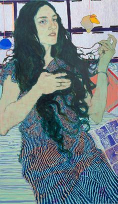 Hope Gangloff, lives and works in Brooklyn, NY - Ballpoint Pen Art - Figurative Painting Art And Illustration, Painting People, Figure Painting, Hope Gangloff, Posca Art, Graphisches Design, Rise Art, A Level Art, Wow Art