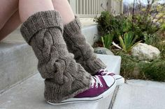 Items similar to PDF Knitting Pattern Adult Legwarmers on Etsy Fall Knitting, Knitting Socks, Crochet Scarf Easy, Knit Crochet, Knit Leg Warmers, Crochet Shoes, Knitting Patterns Free, Look, Etsy