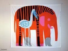 Marimekko fabrics - Buy online from Finnish Design Shop. Discover Unikko and other Marimekko fabrics for a modern home! Textile Design, Textile Art, Fabric Design, Pattern Fabric, Pattern Design, Illustrations, Illustration Art, Elephant Illustration, Marimekko Fabric