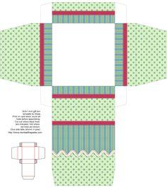 molde caixa presente impressa  printable box