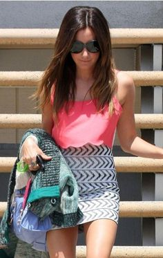Summer. *pair the pink sheer tank with the 344 aztec skirt*