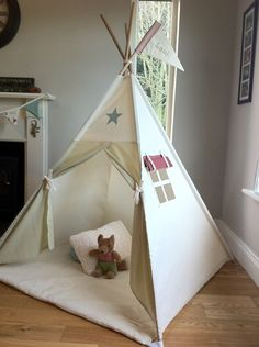 Teepee Tent with customised appliqué design & PERSONALISED Childrenu0027s Teepee Play tent. Choice of appliqué name ...