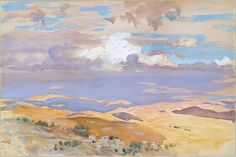 The peripatetic Sargent made his second trip to the Middle East in 1905-6 to conduct research for a mural commission for the Boston Public Library. While traveling through Syria and Palestine, he captured the sights and scenery in a series of watercolors and sketches