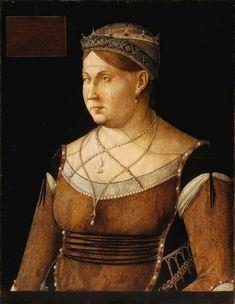 Ritratto di Caterina Cornaro. 1500. 63x49. Budapest.  Museum of Fine Arts