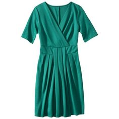 Mossimo® Women's Women's  Elbow Sleeve Front Twist Dress - Assorted Colors.Opens in a new window