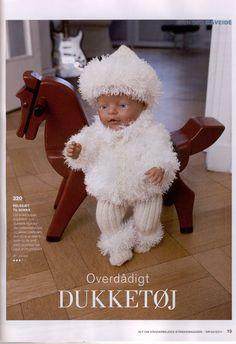 Album Archive - Dukketøj til Baby Born 2 - Ingelise Knitting Dolls Clothes, Doll Clothes, Doll Patterns, Clothing Patterns, Baby Born Clothes, Knit Crochet, Crochet Hats, Baby Alive, Bear Doll