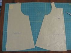 flekka challenge: Week A-line sleeveless top variation - babydoll: drafting Doll Dress Patterns, Baby Patterns, Clothing Patterns, Sewing Patterns, Sewing Kids Clothes, Sewing For Kids, Diy Clothes, Baby Couture, Fabric Toys