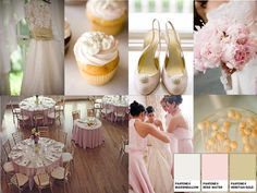 candyfloss : PANTONE WEDDING Styleboard : The Dessy Group