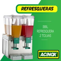Refresquera IBBL 2 Tolvas