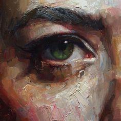 """Matt Talbert: Oil Painting, Abstract Figure, """"Heartbreak"""" (detail)"""