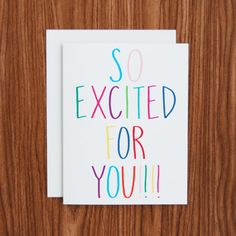 A great card to keep on hand for all different types of occasions - new job, new…