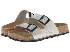 Betula Licensed by Birkenstock Boogie BF Soft (Unisex) Silver/Black - 6pm.com USD 52 or 60