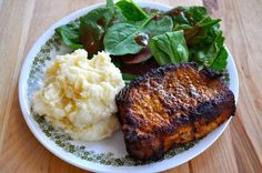 """Southern Plate Blackened Pork Chops. i know she fried hers but i'm gonna try this like """"shake n bake"""""""