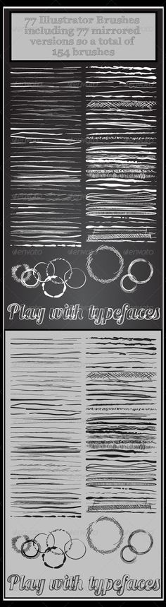 77 Inky Sketchy & other Adobe Illustrator Brushes - Add-ons