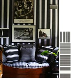 black and white stripes: sig bergamin, designer