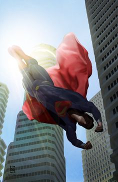 Spider-Man 2099 and Batman Beyond fall through the sky with the wind on their backs as they patrol their future home. Spider-Man 2099 - Shattered Dimentions Batman Beyond art by Alex Ross.