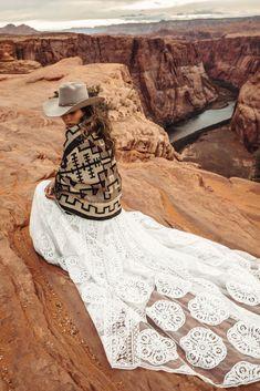 Sedona Gown by Rue De Seine Cowgirl Wedding, Woodland Wedding, Wedding Bride, Forest Wedding, Wedding Reception, Boho Wedding Dress Bohemian, Boho Bride, Bohemian Weddings, Wild West