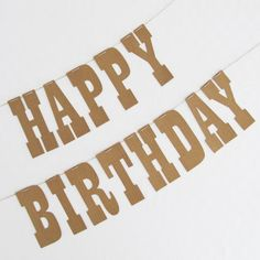 Eco friendly cowboy country and western HAPPY by thedesignfind a timber print paper bunting that says Happy Birthday