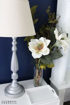 Add a touch of feminine elegance to any room with this super simple magnolia flower arrangement. All you need is three items. Super easy, indeed!