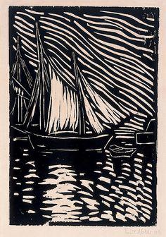 expressionismus:  Emil Nolde Schiffe, 1906