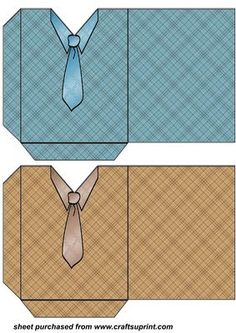 Blue and brown shirt and tie pockets on Craftsuprint designed by Stephen Poore…