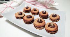Recept na sušenky s kakaovým krémem » Paleo snadno Lchf, Keto, Paleo Baking, Paleo Whole 30, Whole30, Cheesecake, Low Carb, Cookies, Breakfast