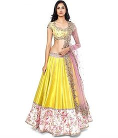 Yellow Lehenga Choli By BigBond