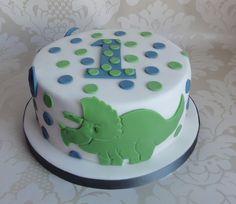 dinosaur smash cake idea