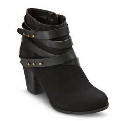Women's Stella Strap Booties - Mossimo Supply Co.™. I like the studded strap style. Heel is a little high & I don't know if they're available anymore