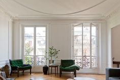 Patrice Bastian & Laetitia Schlumberger's Apartment & Office in Paris / photo by Fred Lahache