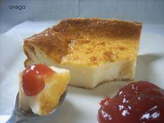 Tarta de queso sin base