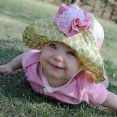 Baby Sun Hat, Baby Hats, Toddler Sun Hat, Baby Sewing, Free Sewing, Floppy Sun Hats, Pdf Sewing Patterns, Hat Patterns, Clothes Patterns