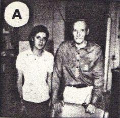 Genesis P-Orridge & William S. Burroughs, circa 1981.