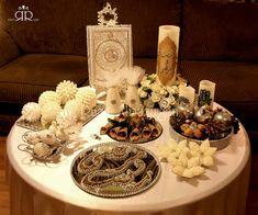Iranian Wedding, Persian Wedding, Wedding Set Up, Dream Wedding, Ramadan Decorations, Wedding Decorations, Engagement Ring Platter, Haft Seen, Afghan Wedding